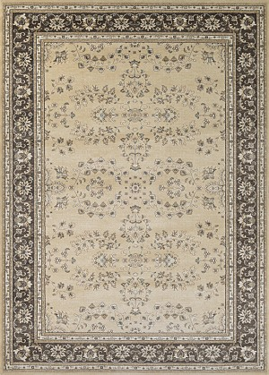 Couristan Konya 3967/0977 Manyas Light Beige-Charcoal Closeout Area Rug - Spring 2017