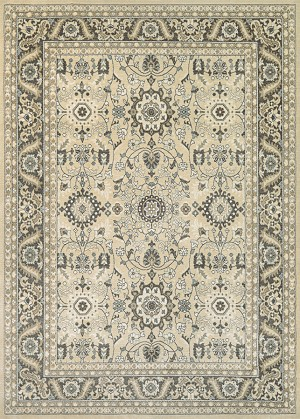 Couristan Konya 3979/0977 Tomek Light Beige-Charcoal Closeout Area Rug - Spring 2017