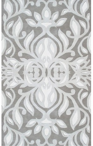 Rug Market Style Grace 44258 Antionette Grey Silver White Area