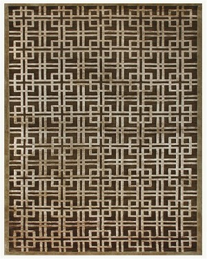 Feizy Dim Sum 6072F Brown/Gold Closeout Area Rug
