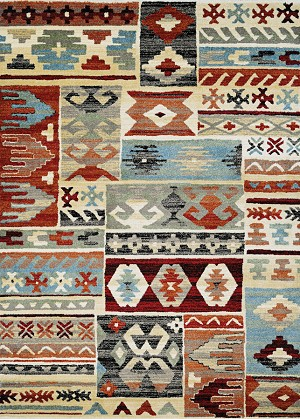 Couristan Solace 6482/0831 Great Plains Sand-Rust Area Rug