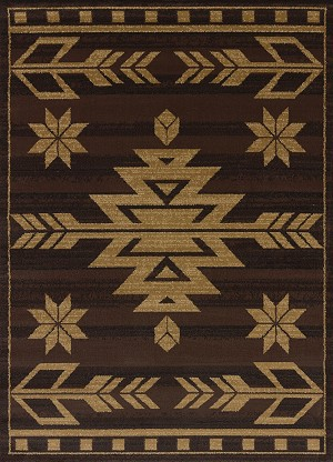 United Weavers Affinity 750 00150 Teton Brown Area Rug