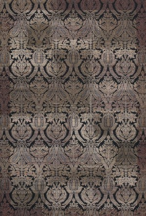 Couristan Bauhaus 9370 0042 Gothic Black Closeout Area Rug