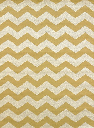 United Weavers Visions 970 20011 Chevron Gold Harvest Closeout Area Rug