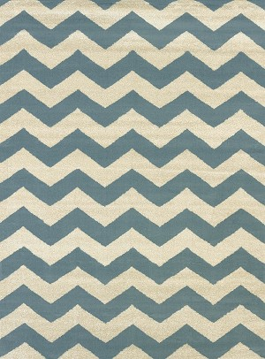 United Weavers Visions 970 20060 Chevron Blue Closeout Area Rug