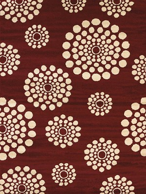 United Weavers Visions 970 20430 Bombay Red Area Rug