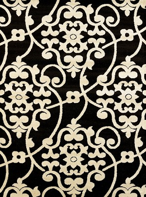 United Weavers Visions 970 20570 Jardin Black Area Rug