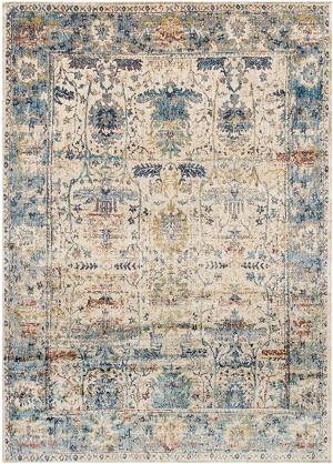 Loloi Anastasia AF-07 Sand / Light Blue Area Rug