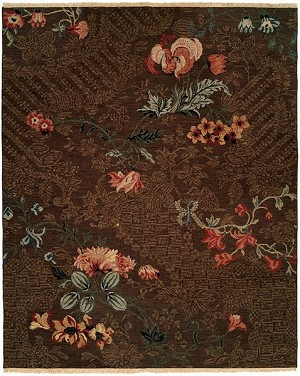 Designer Series DS040015 Asian Floral Closeout Rug
