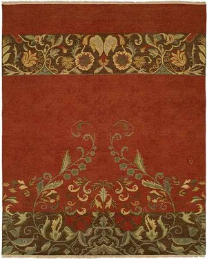 Designer Series DS040016 Fire Dynasty Closeout Area Rug