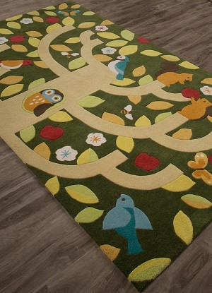 Jaipur Iconic IBP11 Treetop Chive & Banana Crepe Area Rug