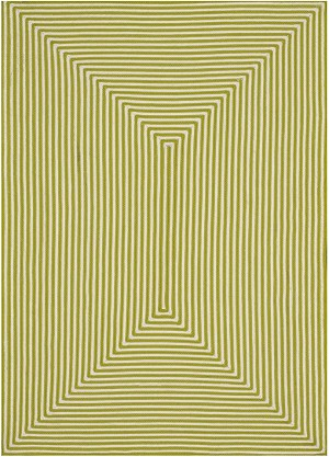 Designer Series 17028 Hideaway Stripe Outdoor Lime Rug