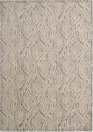 Kathy Ireland Hollywood Shimmer KI100 LTGRY Paradise Cove Light Grey Closeout Area Rug
