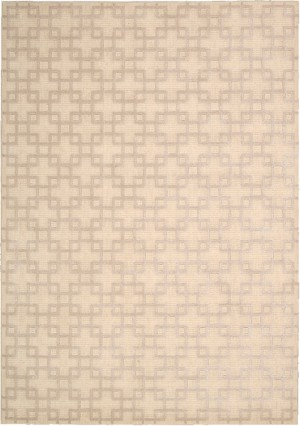 Kathy Ireland Hollywood Shimmer KI101 BISQU Times Square Bisque Closeout Area Rug