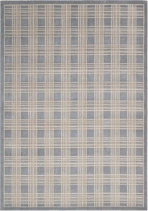 Kathy Ireland Hollywood Shimmer KI102 BL Mission Craft Blue Closeout Area Rug