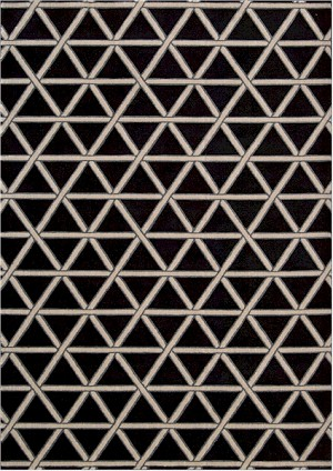 Kathy Ireland Hollywood Shimmer KI103 ONYX Metro Crossing Onyx Closeout Area Rug