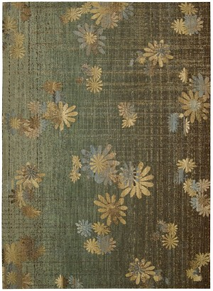 Liz Claiborne Home Radiant Impressions LK07 GRE Green Closeout Area Rug