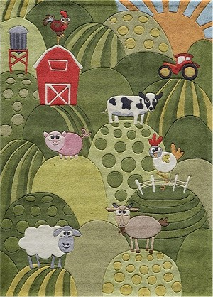 Momeni 'Lil Mo Whimsy LMJ-11 Grass Area Rug