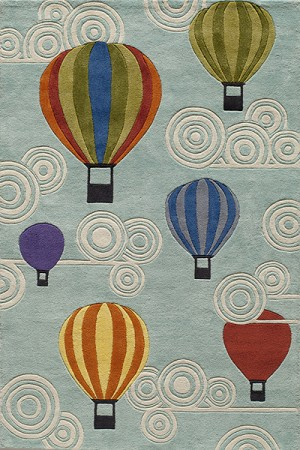 Momeni 'Lil Mo Whimsy LMJ-20 Hot Air Balloons Multi Area Rug