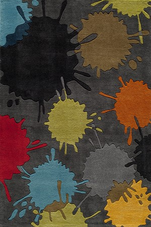 Momeni 'Lil Mo Hipster LMT-9 Paint Ball Grey Area Rug
