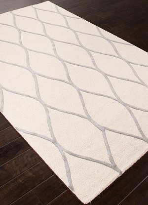 Jaipur Lounge LOE02 Marquia Snow White & Frost Gray Area Rug