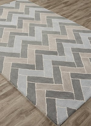 Jaipur Lounge LOE31 Kiva Laurel Wreath & Plaza Taupe Closeout Area Rug