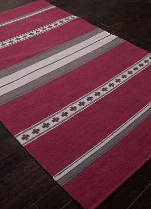 Jaipur Traditions Made Modern Cotton Flat Weave MCF01 Cuzco Cordovan Ensign Blue Closeout Area Rug