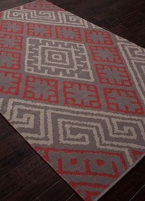 Jaipur Traditions Made Modern Cotton Flat Weave MCF08 Zagros Monument Cement Closeout Area Rug