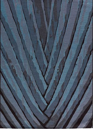 Jaipur National Geographic Home Indoor Outdoor NGO03 Palm Leaf Dark Slate & Blue Graphite Area Rug
