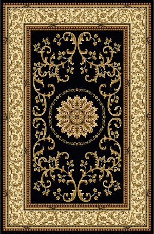 Radici USA Noble 1419 Black Area Rug