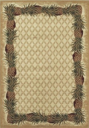 Shaw Kathy Ireland Home Aloha Pineapple 101000 Ivory