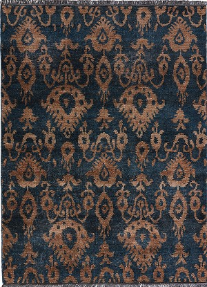 Jaipur Traditions Made Modern Select TMS05 Fortuny Midnight Navy & Lead Gray Area Rug