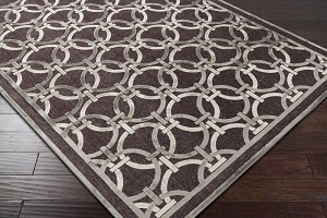 Surya Basilica BSL-7218 Chocolate/Light Grey/Ivory Area Rug