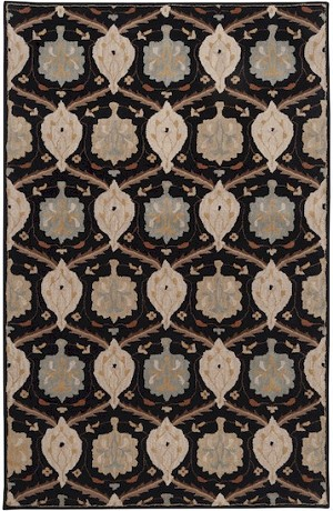 Surya Caesar CAE-1092 Jet Black/Dark Khaki Closeout Area Rug - Fall 2014