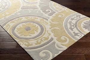 Surya Cosmopolitan Cos 9271 Ivory Gold Grey Area Rug