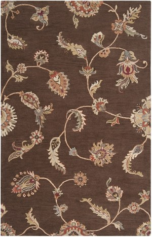 Surya Langley LAG-1015 Chocolate/Red Clay/Papyrus Closeout Area Rug - Fall 2014
