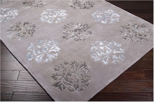 Designer Series DS040040 Grey Silken Medallion Rug