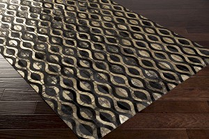 Surya Trail TRL-1133 Black/Gold Area Rug