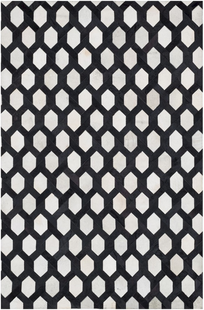Designer Series 17034 Leland Hairhide Black/White Rug