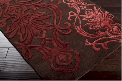 Designer Series DS040030 Chocolate Fluer De Lis Rug