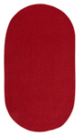 Capel Heathered 0050-530 Scarlet Red Solid Area Rug