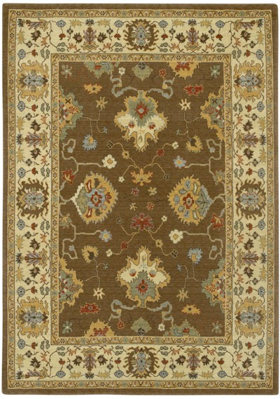 Couristan Woven Treasures 0068 0313 Kashan Mocha Ivory