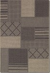 Couristan Tides 0142/0081 Rockville Black/Grey Closeout Area Rug - Spring 2017