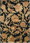 Couristan Givenry 0159/0123 Wild Orchids Black Closeout Area Rug