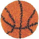Rug Market Kids Sporty 02252 Shaggy Raggy Basketball Area Rug