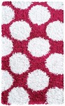 Rug Market Kids 02266 Polkamania Raspberry/White Closeout Area Rug