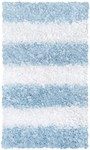 Rug Market Kids Shag 02276 Stripe Shag Blue/White Area Rug