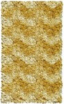 Rug Market Kids Shag 02285 Shaggy Raggy Yellow Chevron Area Rug