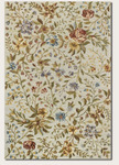 Couristan Eden 0231/0031 Spring Blooms Ivory/Azure Closeout Area Rug - Spring 2013