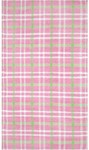 Rug Market Kids 03607 Plaid Rag Pink Closeout Area Rug